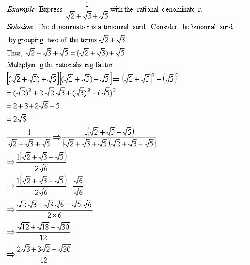 Geometry Worksheets High School Unique Rationalizing the Denominator Worksheet