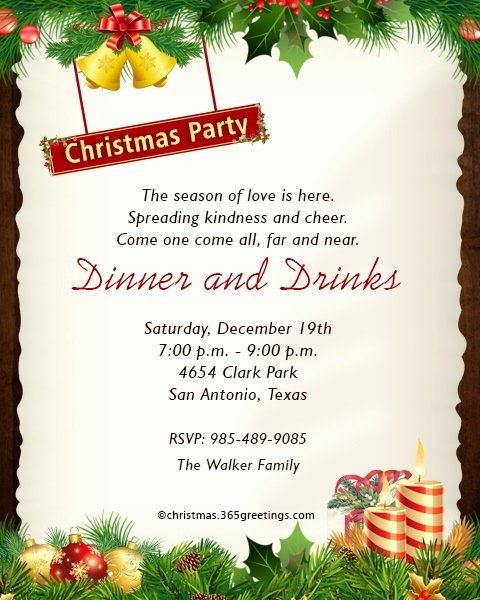 Get together Invitation Wording Samples Awesome Christmas Invitation Template and Wording Ideas