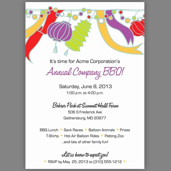 Get together Invitation Wording Samples Beautiful Items Similar to Pany Party Invitation Pany Picnic