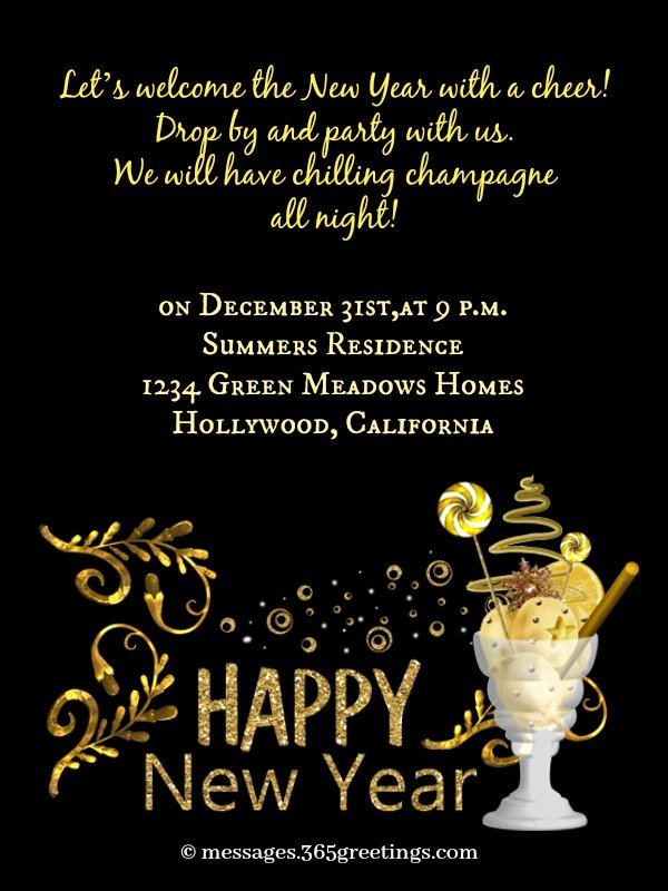 Get together Invitation Wording Samples Fresh New Year Party Invitation Wording 365greetings