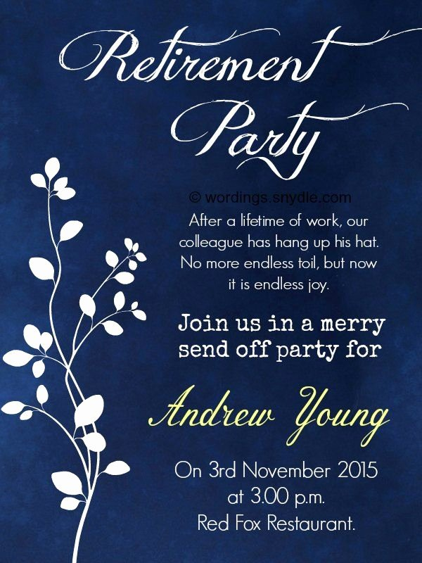 Get together Invitation Wording Samples Lovely Nice Retirement Party Invitation Wording