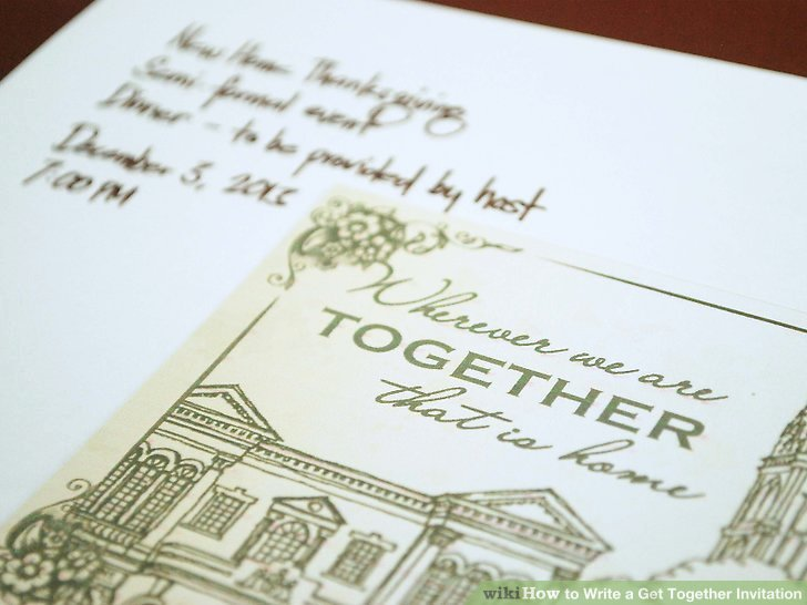 Get together Invitation Wording Samples New How to Write A Get to Her Invitation 8 Steps with