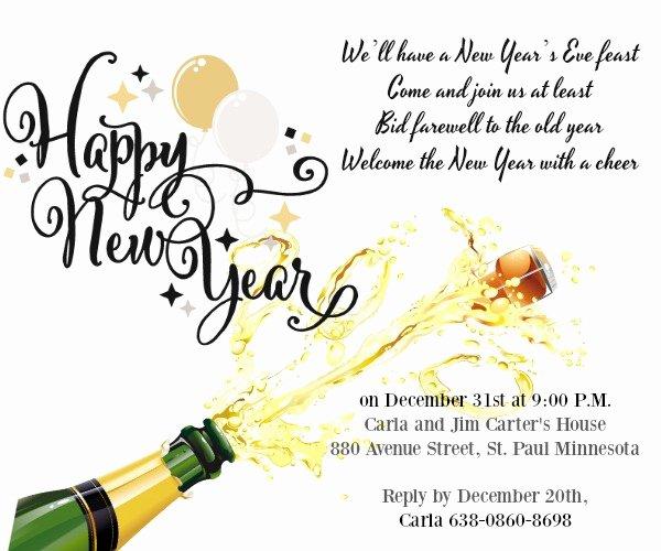 Get together Invitation Wording Samples New New Year Party Invitation Wording 365greetings