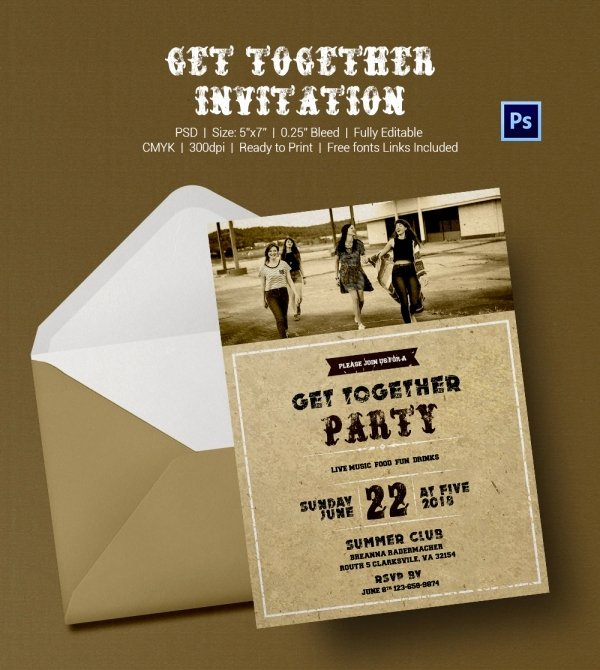 Get together Invitation Wording Samples Unique Get to Her Invitation Template 25 Free Psd Pdf