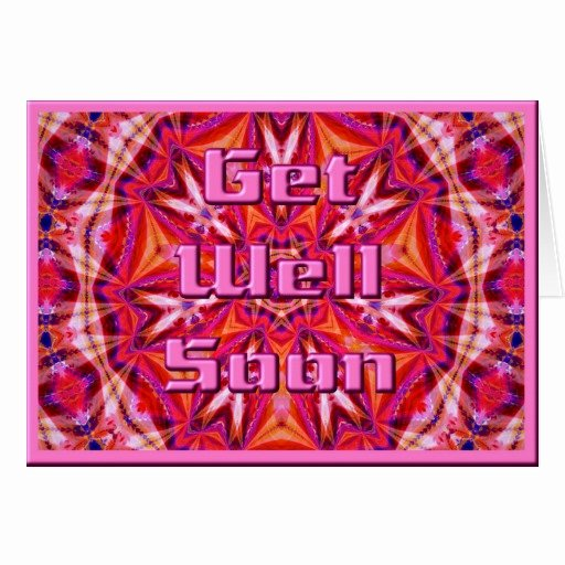 Get Well soon Cards Templates Beautiful Get Well soon Card Template