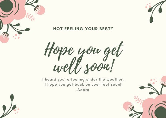 Get Well soon Cards Templates Best Of Customize 96 Get Well soon Card Templates Online Canva