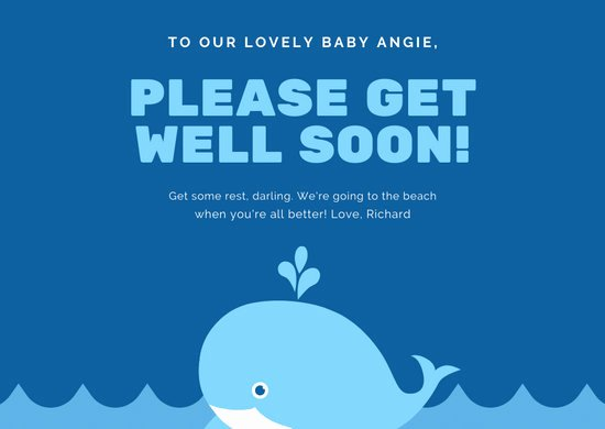 Get Well soon Cards Templates Elegant Customize 122 Get Well soon Card Templates Online Canva