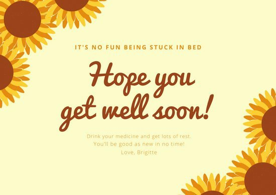 Get Well soon Cards Templates Inspirational Customize 97 Get Well soon Card Templates Online Canva