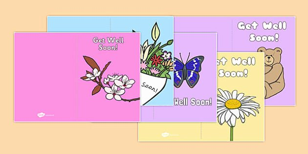 Get Well soon Cards Templates Inspirational Get Well soon Cards Well soon Cards Card Templates
