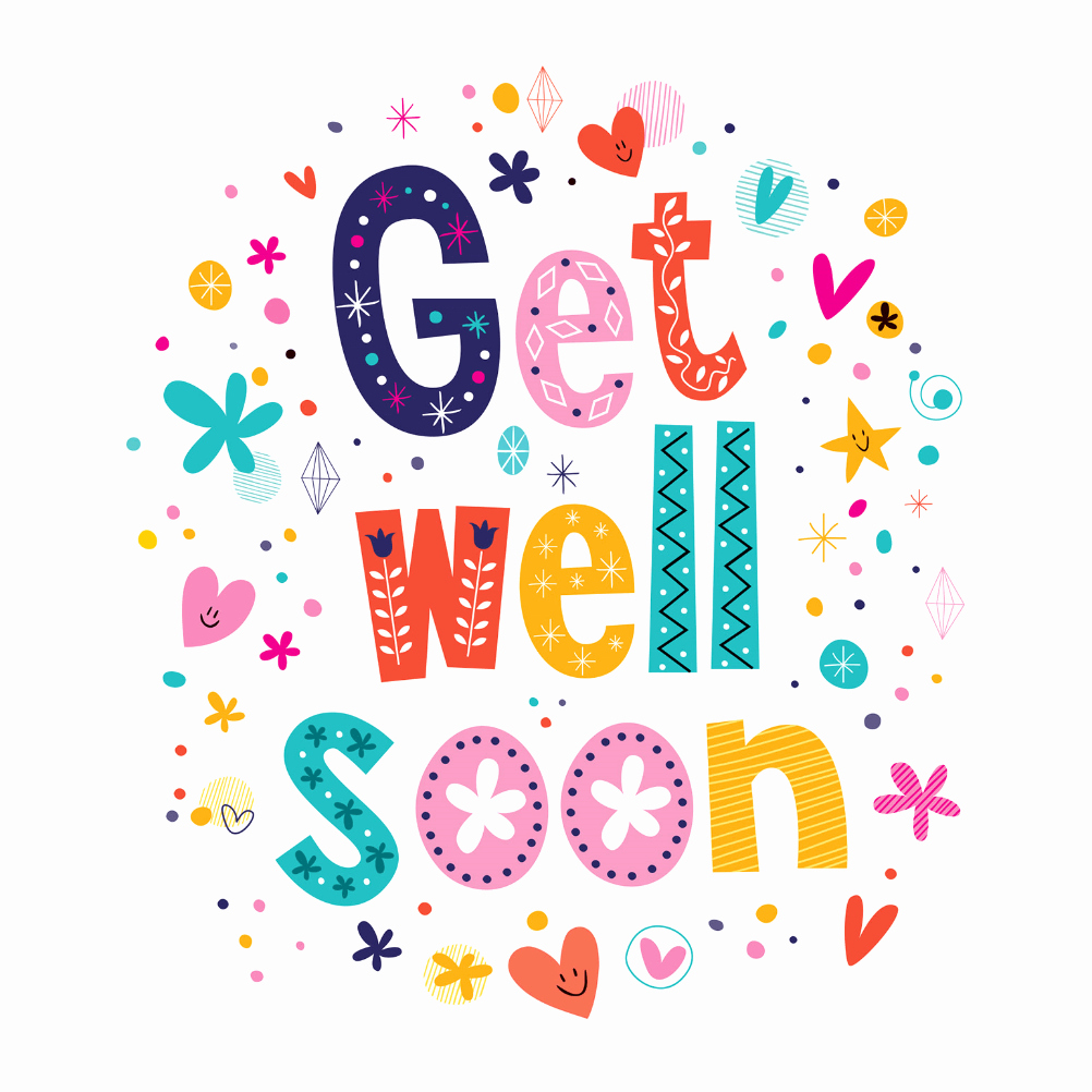 Get Well soon Cards Templates Lovely Cheerful Hearts Get Well soon Card Free