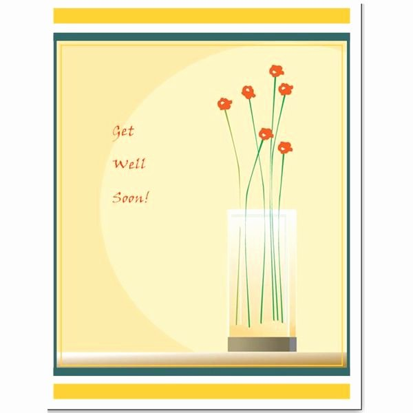 Get Well soon Cards Templates Lovely Free Downloads Simple Template for A Greeting Card In