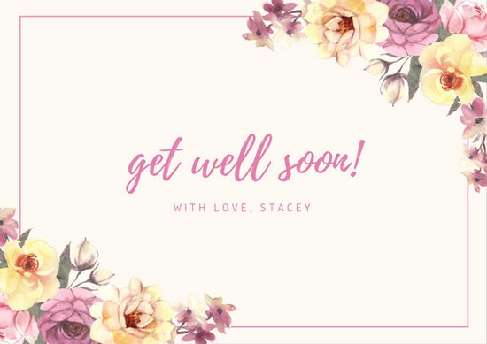 Get Well soon Cards Templates New Get Well soon Card Templates Canva