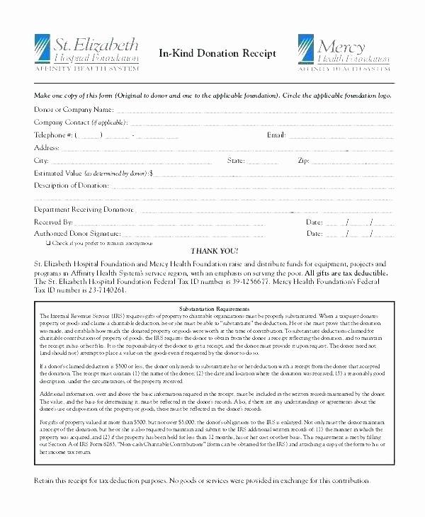 Gift Acknowledgement Letter Sample Fresh Sample Nonprofit Gift In Kind Acknowledgement Letter