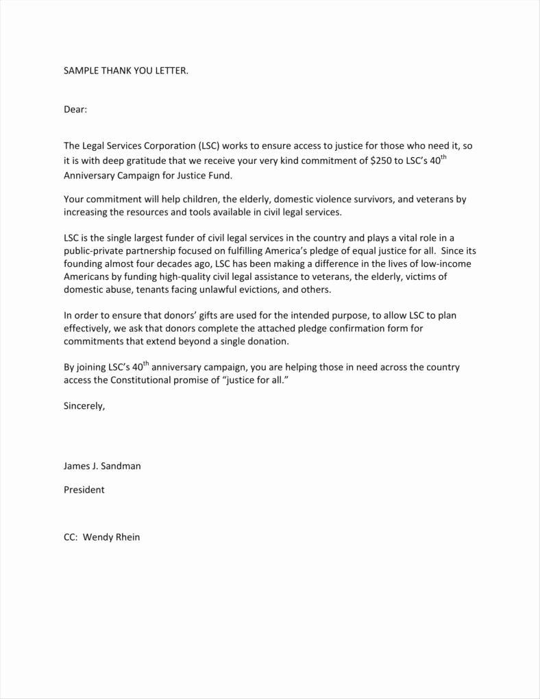 Gift Acknowledgement Letter Sample Luxury 11 Donor Acknowledgement Letter Templates Pdf Doc