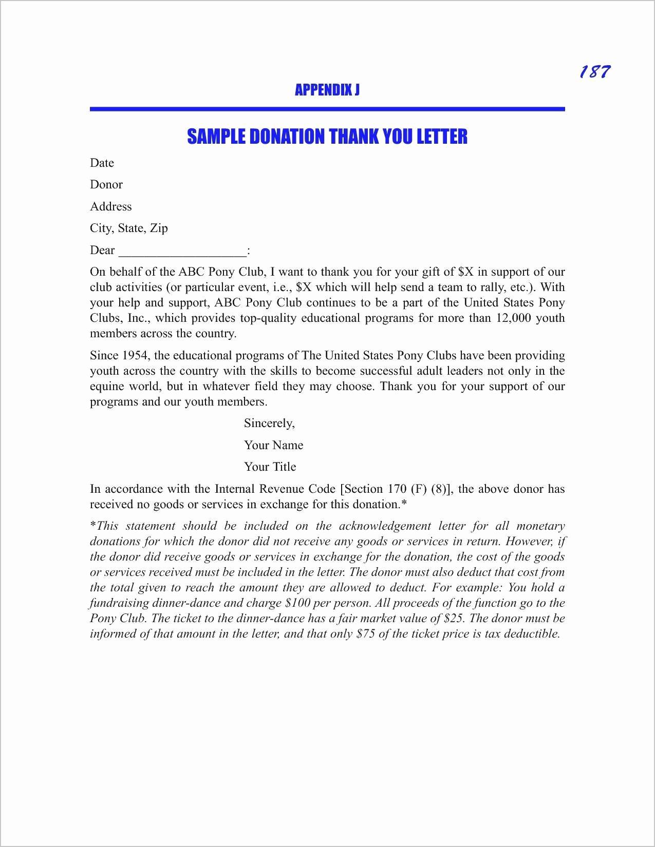 Gift Acknowledgement Letter Sample Unique Sample Nonprofit Gift In Kind Acknowledgement Letter