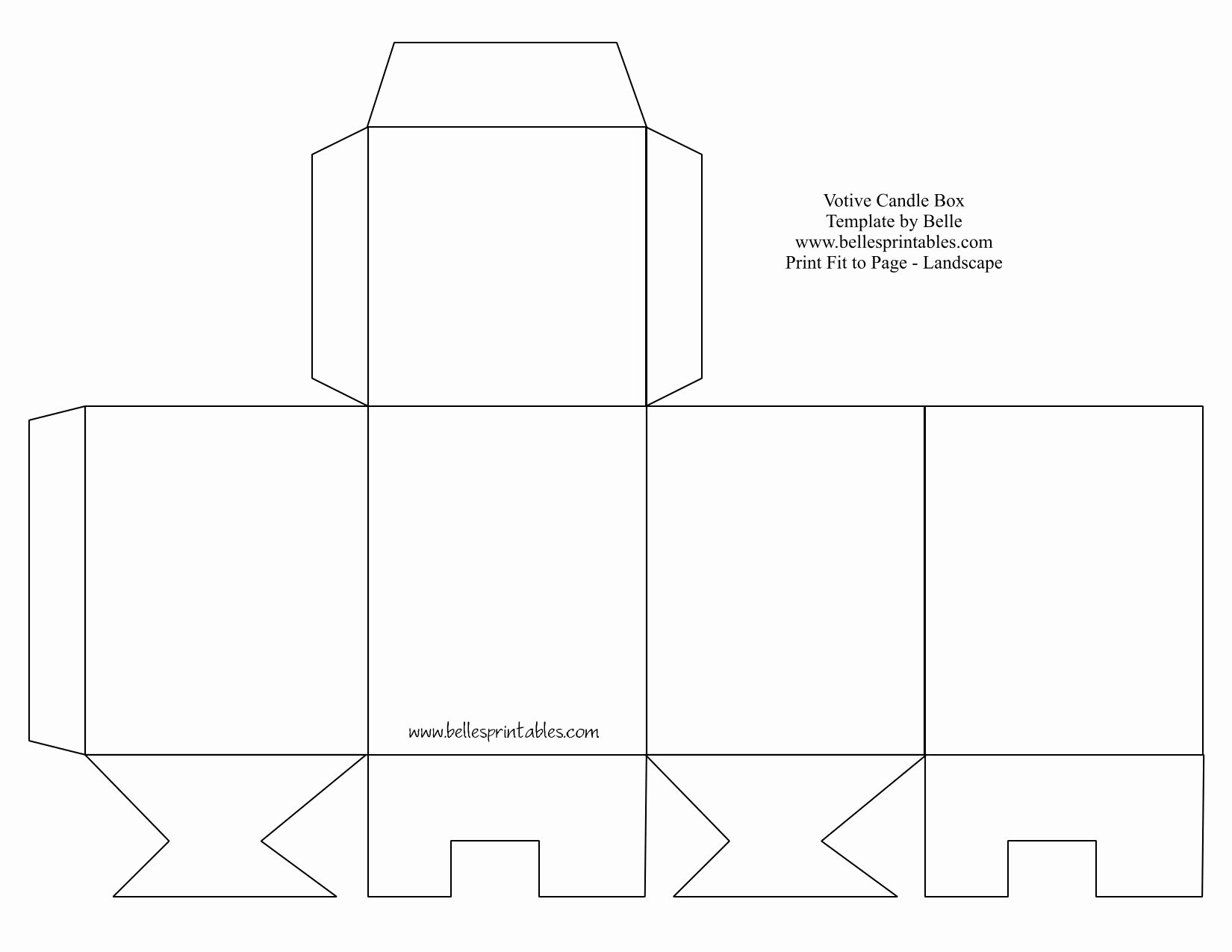 Gift Box Template Printable Beautiful Votive Candle Box Needs Changing the Bottom Does Not