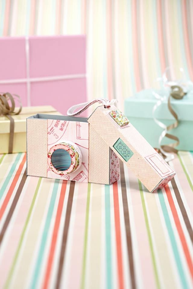 Gift Box Template Printable Inspirational Cámara De Fotos De Papel Para Guardar Regalar Fotos