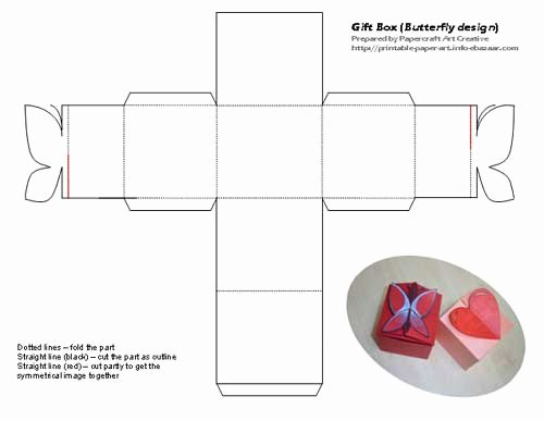 Gift Box Template Printable Lovely Gift Boxes butterflies and Boxes On Pinterest