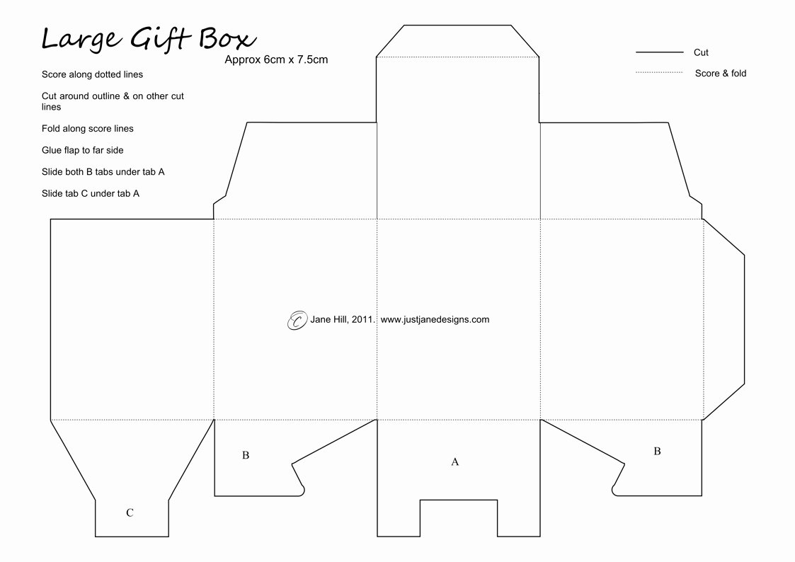 Gift Box Template Printable Luxury Just Jane Designs Super Little T Box Template