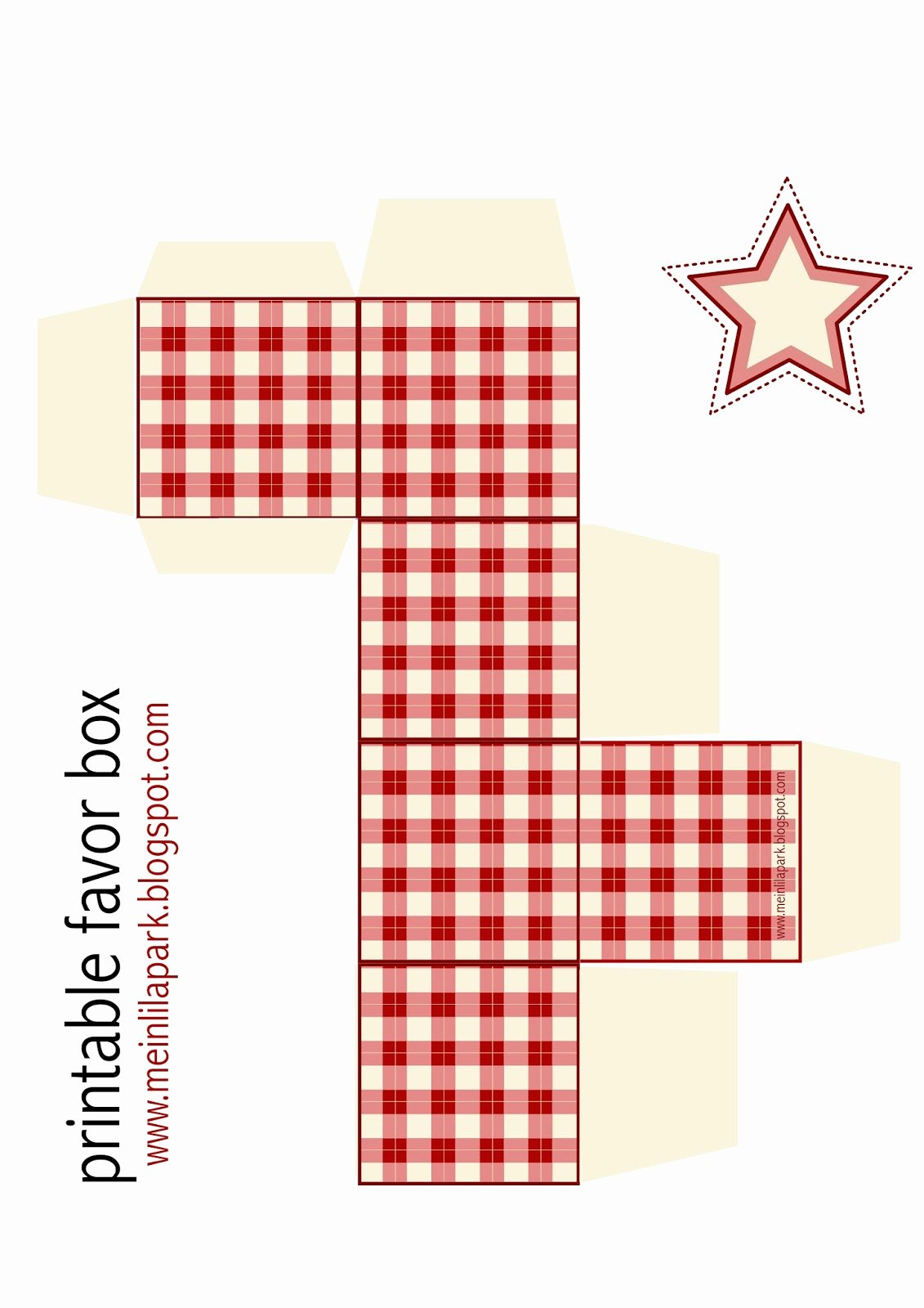 Gift Box Template Printable New Free Printable Gingham Box Ausdruckbare Geschenkbox