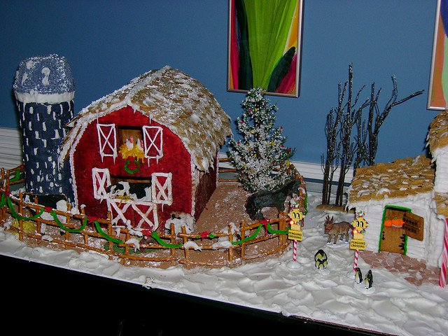 Ginger Bread House Patterns Beautiful Barn with Silo Gingerbread Pattern