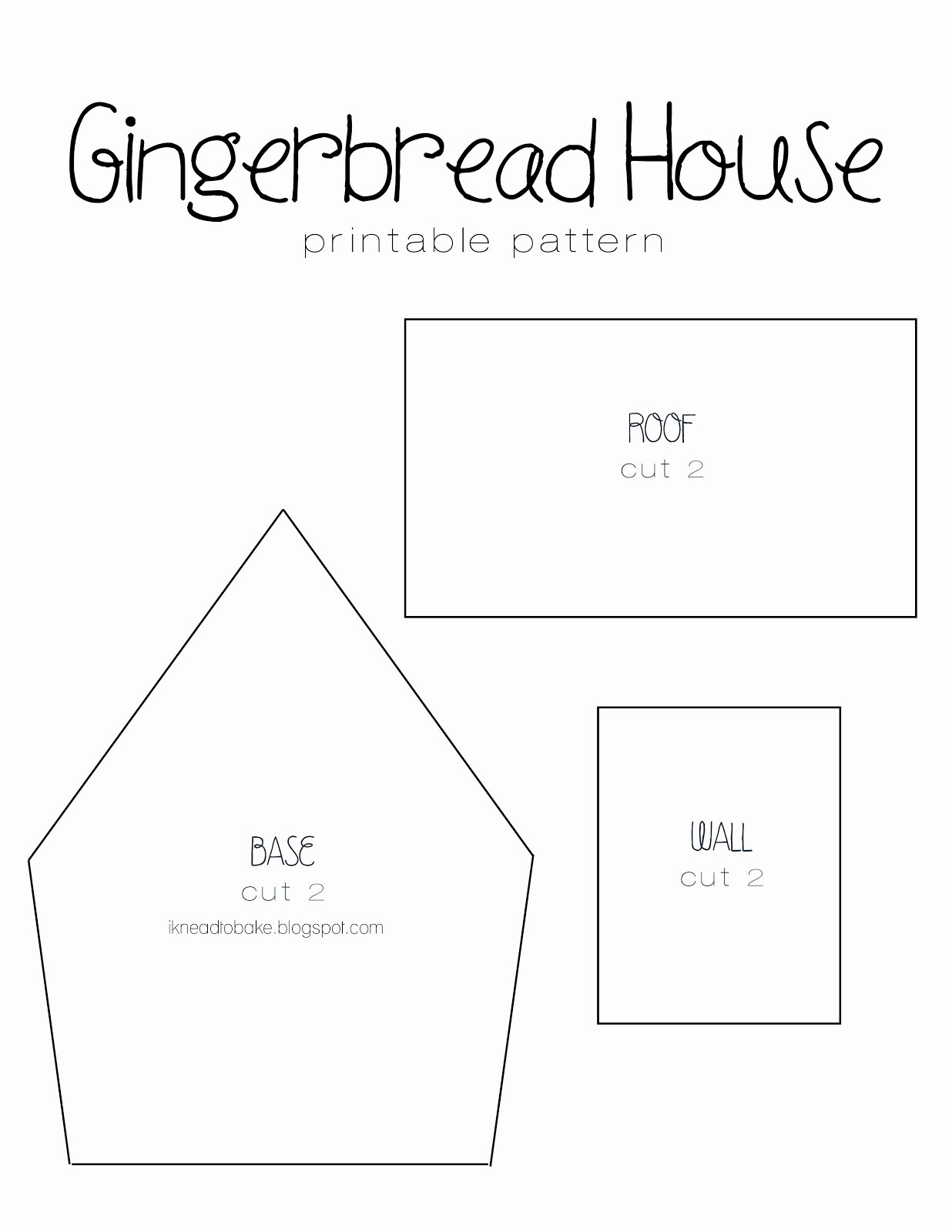Ginger Bread House Patterns Elegant I Knead to Bake Gingerbread Recipe & Printable House Template