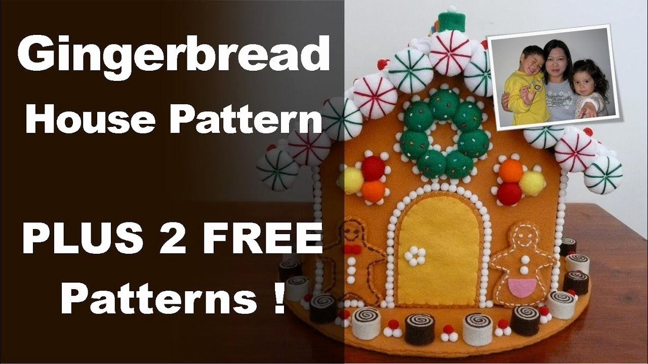 Ginger Bread House Patterns Inspirational Gingerbread House Pattern Felt Gingerbread House From