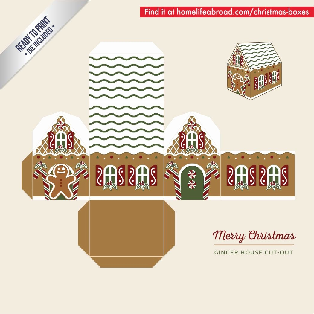 Gingerbread House Cut Out Best Of Mega Collection Of 38 Cut Out Christmas Box Templates Part