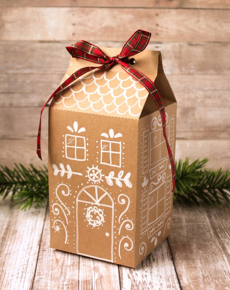 Gingerbread House Cut Out Elegant Gingerbread House Treat Box Free Printable and Cut File