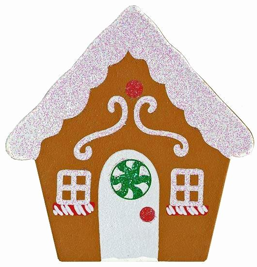 Gingerbread House Cut Out Inspirational Finished Wooden Glittery Gingerbread House Cutout