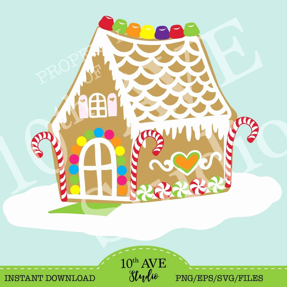 Gingerbread House Cut Out Luxury Christmas Gingerbread House Clipart & Cut Files Svg Eps