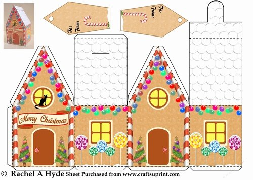 Gingerbread House Cut Out New Christmas Gingerbread House Box Cup 155