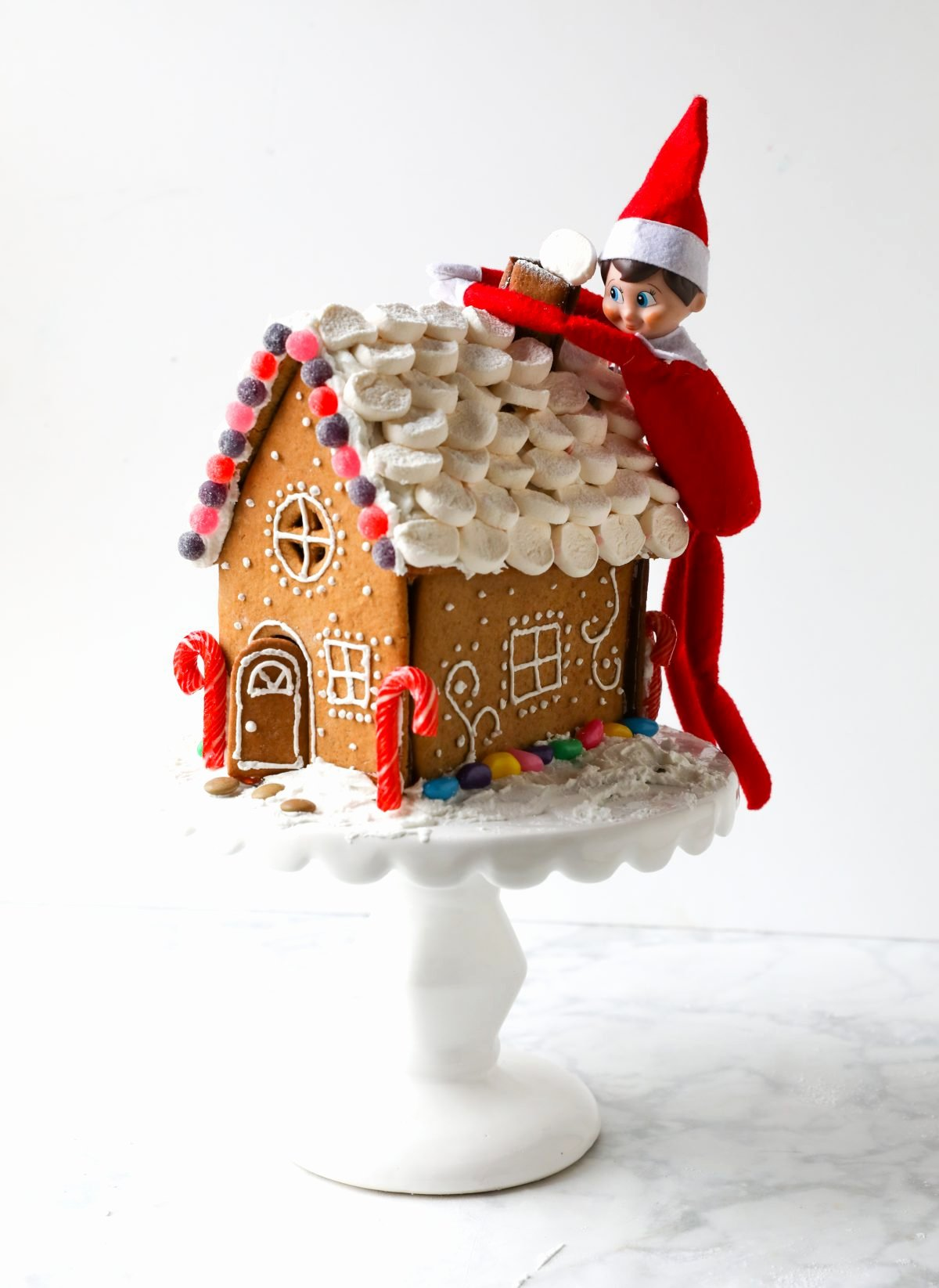 Gingerbread House Cut Out New Step by Step Gingerbread House Tutorial Just Easy Recipes