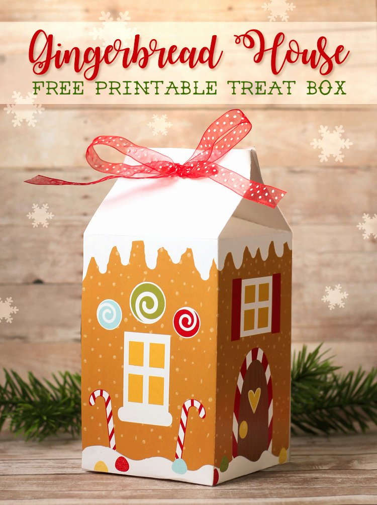 Gingerbread House Cut Out New the Craft Patch Gingerbread House Treat Box Free
