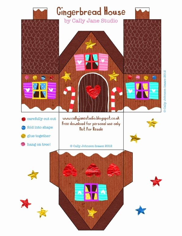Gingerbread House Cut Out Unique Christmas Free Printable House Shaped Boxes