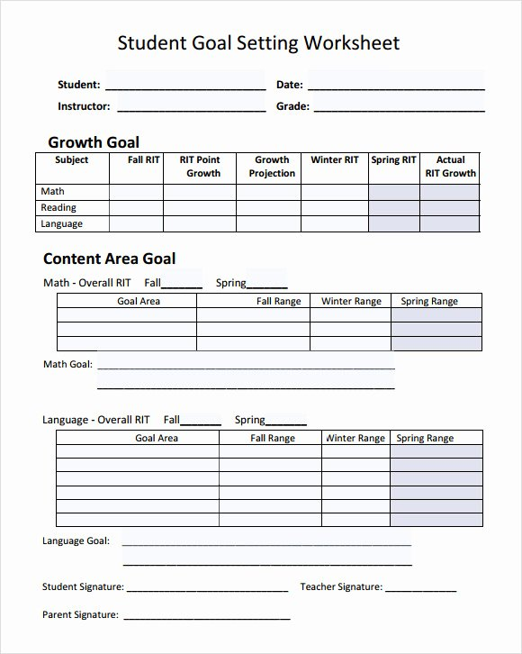 Goal Setting Template Awesome Goal Setting Template 12 Download Free Documents In Pdf