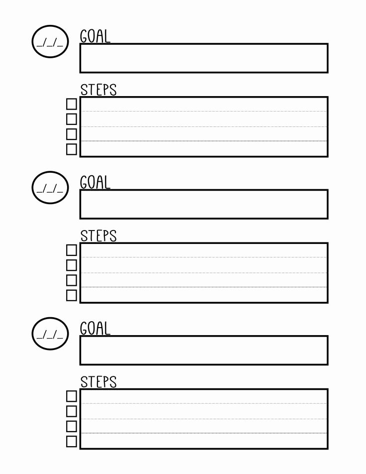 Goal Setting Template Beautiful Free Printable Goal Setting Worksheet Planner Setting