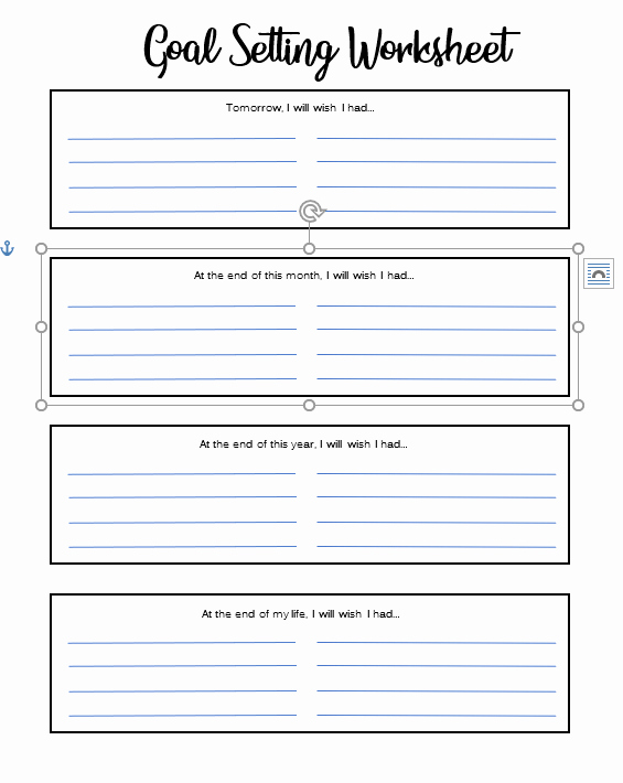 Goal Setting Template Elegant Goal Setting Template Tips to Achieve Goals by