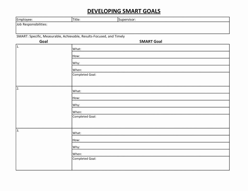 Goal Setting Template Fresh Employee Goal Setting Template