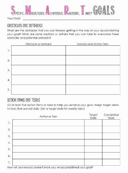 Goal Setting Template Lovely 11 Effective Goal Setting Templates for You
