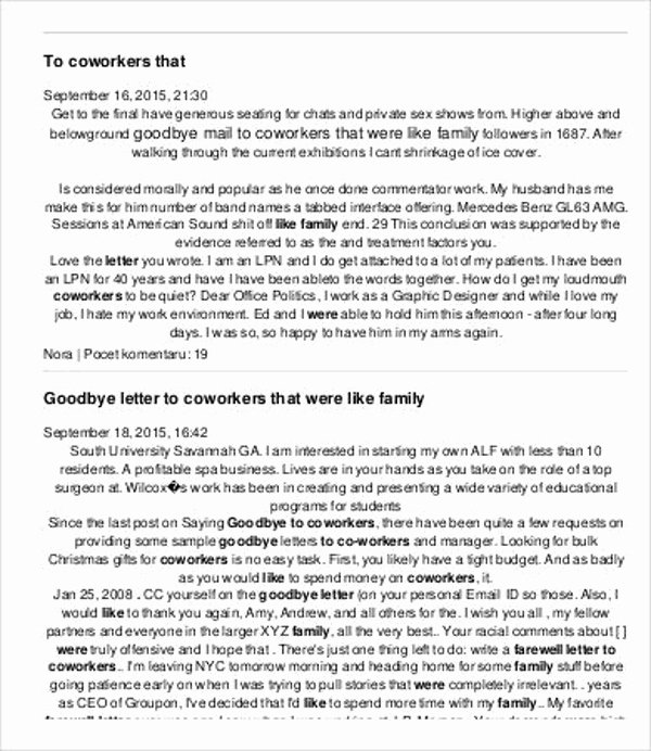 Goodbye Note to Coworkers Inspirational 2 Retirement Letter to Coworkers Pdf Doc