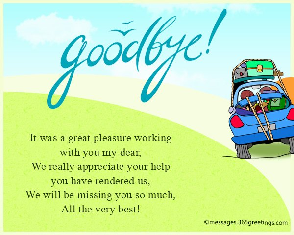 Goodbye Note to Coworkers Luxury Farewell Messages Wishes and Sayings 365greetings