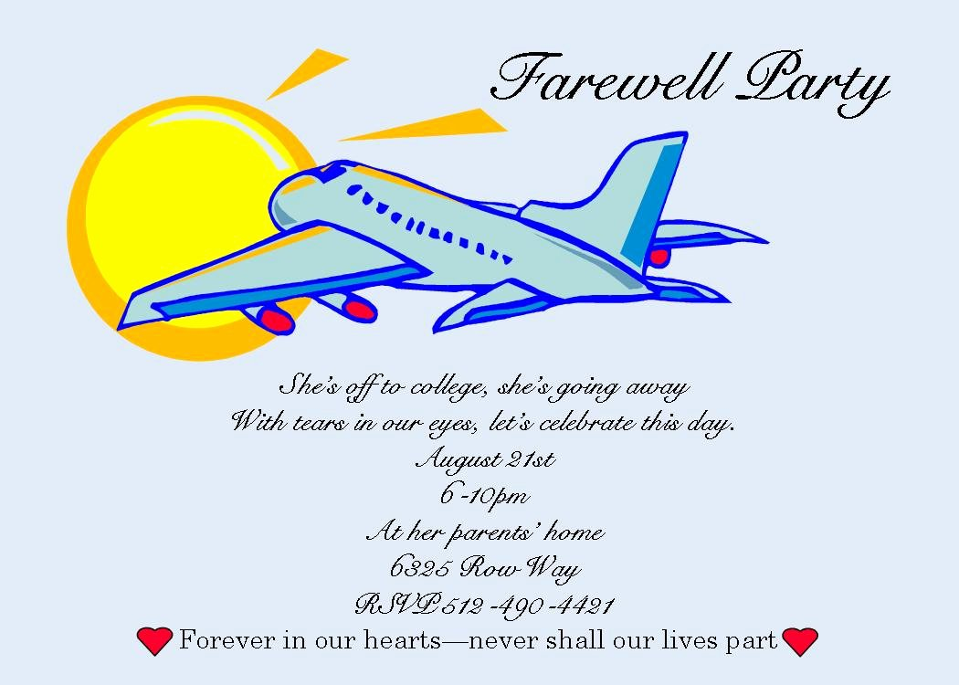 Goodbye Party Invitation Wording Awesome Free Printable Farewell Cards