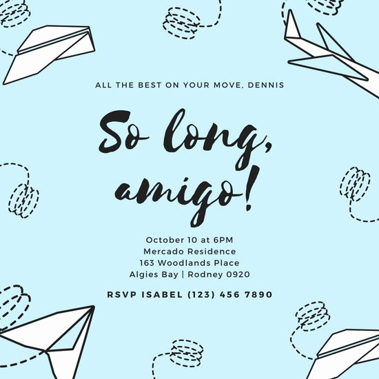 Goodbye Party Invitation Wording Beautiful Customize 2 419 Farewell Party Invitation Templates