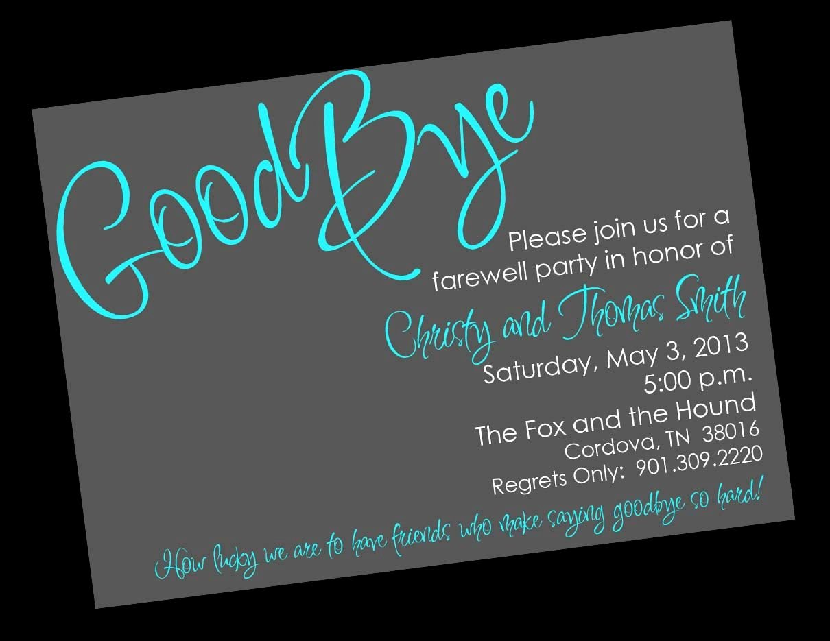 Goodbye Party Invitation Wording Beautiful Free Printable Invitation Templates Going Away Party