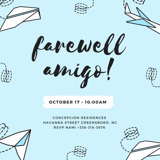 Goodbye Party Invitation Wording Elegant Customize 3 999 Farewell Party Invitation Templates