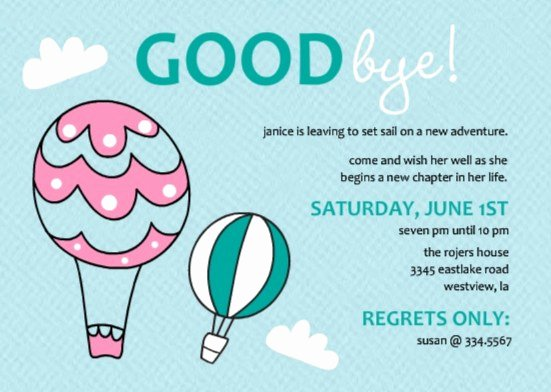 Goodbye Party Invitation Wording Lovely Going Away Party Ideas Great Bon Voyage Party Ideas and