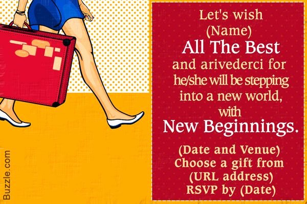 Goodbye Party Invitation Wording Luxury 10 Farewell Party Invitation Wordings to Bid Goodbye In