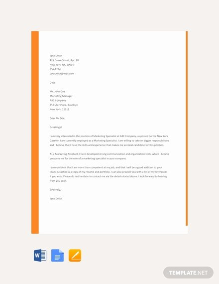 Google Doc Cover Letter Lovely 66 Free Cover Letter Templates In Google Docs [download