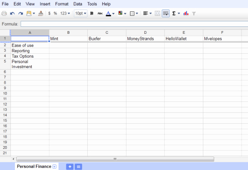 Google Docs Excel Template Elegant 15 Best Free Desktop and Web Based Microsoft Excel